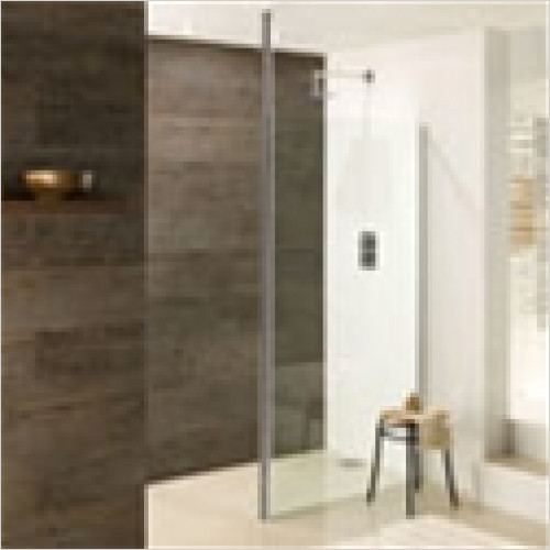 Estuary Bathrooms - Valliant Round Pole Walk-In Front Panel 1000mm