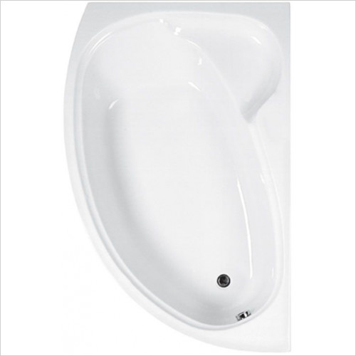 Estuary Bathrooms - Swan Offset Corner Bath 1700 x 1000mm, 5mm RH
