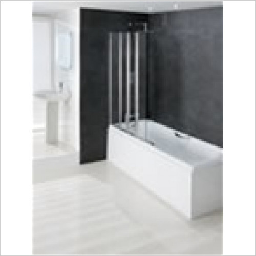 Estuary Bathrooms - Volente 1 Fixed & 3 Folding Panels 1000mm LH
