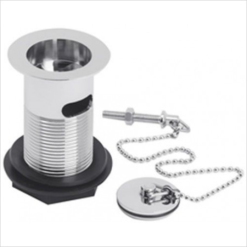 Estuary Bathrooms - Basin Waste, Ball Chain, Solid Plug