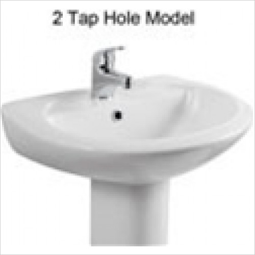 Estuary Bathrooms - Loire Basin 450mm 2 Tap Holes
