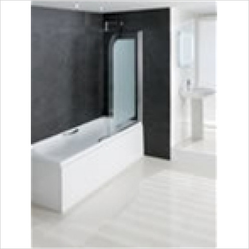 Estuary Bathrooms - Volente Bath Screen 850 x 1500mm With 8mm Hinge