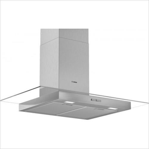 Bosch - Serie 2 90cm Wide Straight Glass Canopy Cooker Hood