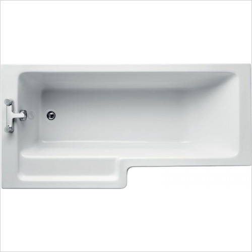 Ideal Standard - Bathrooms - Tempo Cube 1700 x 850mm Square Idealform Shower Bath LH