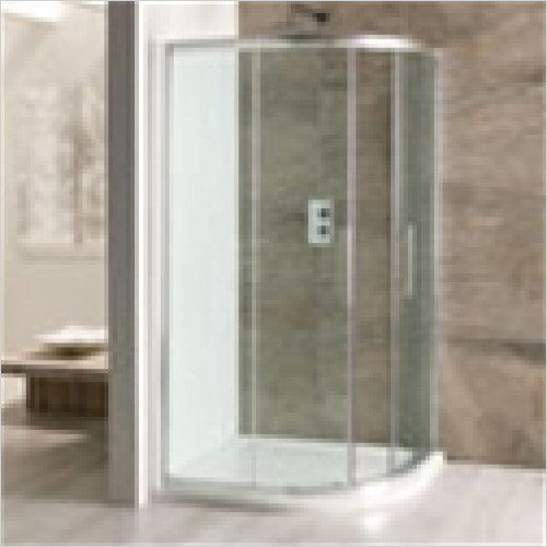 Estuary Bathrooms - Volente Offset Quadrant Enclosure 1000 x 700mm