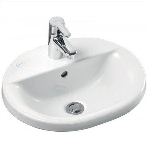 Ideal Standard - Bathrooms - Concept Oval 480mm Countertop Washbasin 1TH