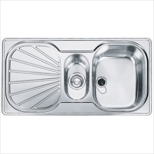 Franke Sinks & Taps - Erica 1.5 Bowl Sink & Drainer, 965 x 500mm