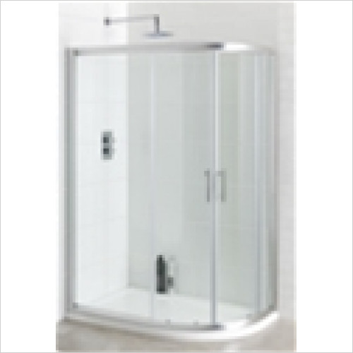Estuary Bathrooms - Vantage Easy Clean Offset Quadrant Enclosure 900 x 800mm