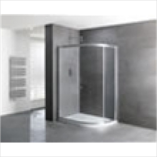Estuary Bathrooms - Volente Single Door Offset Quadrant Enclosure 900 x 760mm