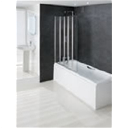 Estuary Bathrooms - Volente 1 Fixed & 4 Folding Panels 1250mm LH