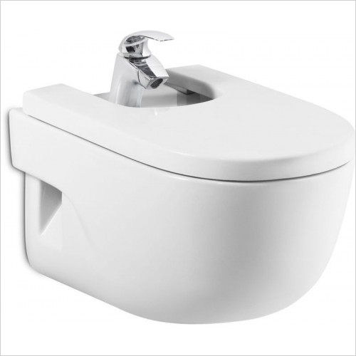 Roca - Meridian-N Wall Hung Bidet 1TH