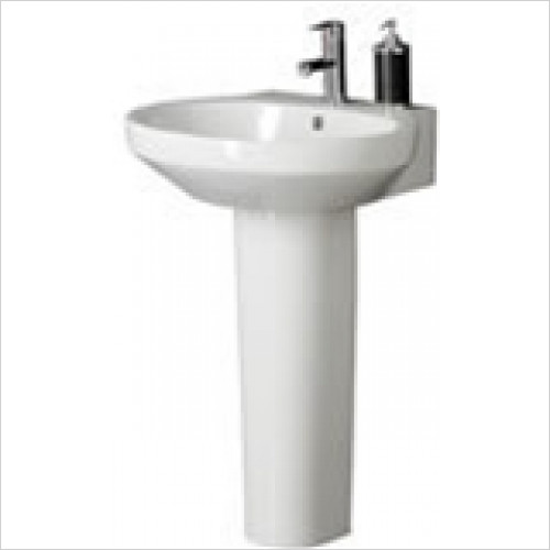 Estuary Bathrooms - Orba Basin 569mm 1 Tap Hole