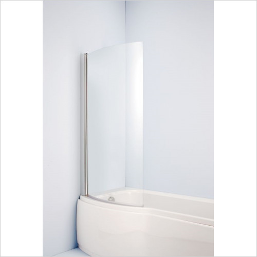 Ideal Standard - Bathrooms - Alto Shower Bath Screen, Clear Glass, Silver Finish