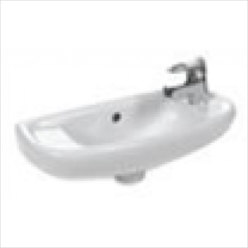 Estuary Bathrooms - Kompact Cloakroom Basin 509 x 216mm 1 Tap Hole RH