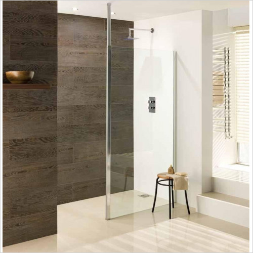 Estuary Bathrooms - Valliant Square Pole Walk-In Front Panel 500mm