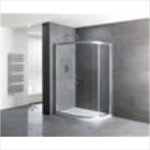 Estuary Bathrooms - Volente Single Door Offset Quadrant Enclosure 900 x 800mm
