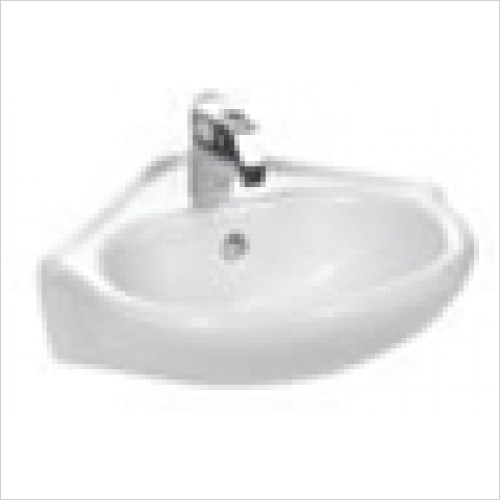 Estuary Bathrooms - Kompact Corner Cloakroom Basin, 1 Tap Hole
