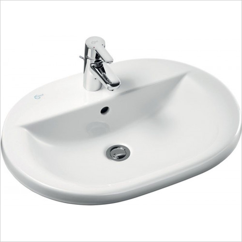 Ideal Standard - Bathrooms - Concept Oval 620mm Countertop Washbasin 1TH