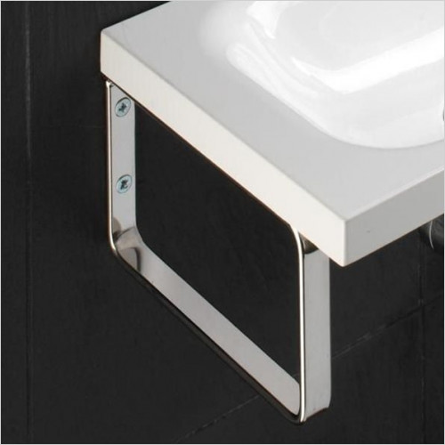 HiB Bathrooms - Support Brackets For Delta & Swirl Basins 21 x 12 x 2cm