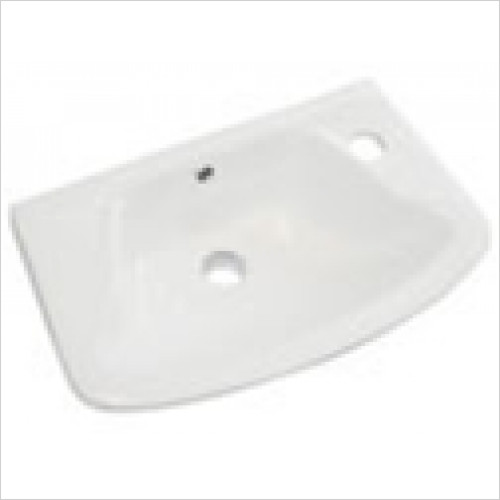 Estuary Bathrooms - Loire Cloakroom Basin 350 x 250mm 1 Tap Hole RH