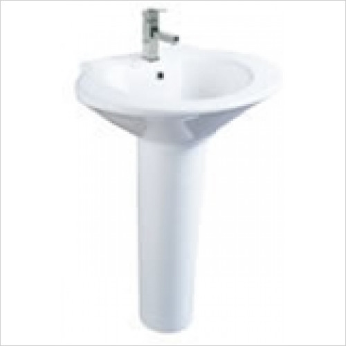 Estuary Bathrooms - Curva Basin 630mm 1 Tap Hole