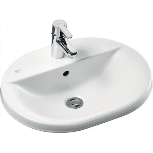 Ideal Standard - Bathrooms - Concept Oval 550mm Countertop Washbasin 1TH