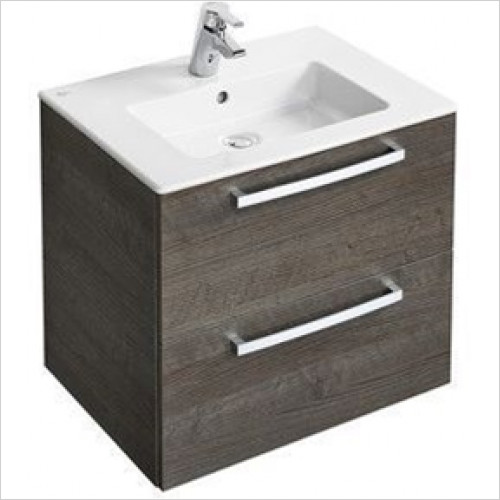 Ideal Standard - Bathrooms - Tempo Wall Hung 600mm Vanity Unit With 2 Drawers