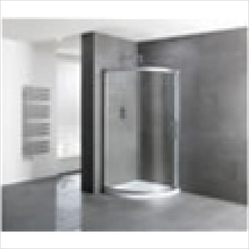 Estuary Bathrooms - Volente Single Door Quadrant Enclosure 800mm