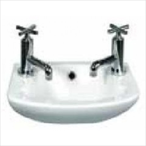 Estuary Bathrooms - Loire Cloakroom Basin 350 x 250mm 2 Tap Holes