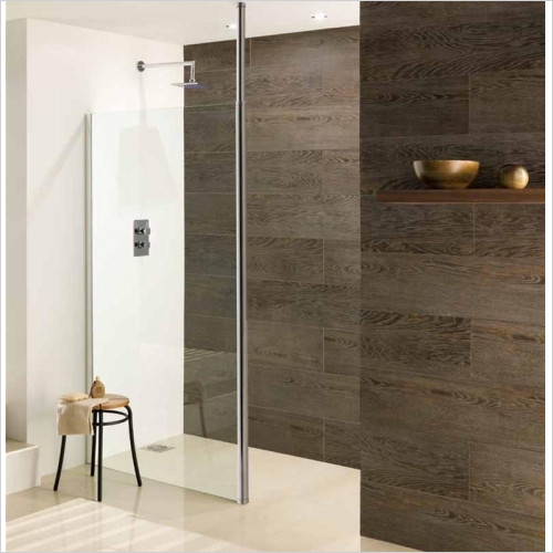 Estuary Bathrooms - Valliant Round Pole Walk-In Front Panel 500mm