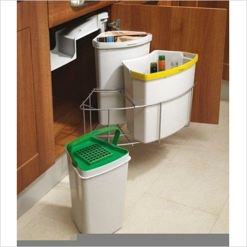 Solutions Kitchen Products - Waste Recycling Bin To Fit 500mm Unit