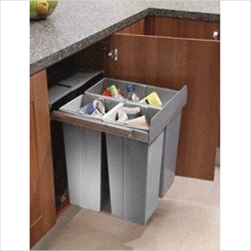 Solutions Kitchen Products - Waste Bin To Fit 600mm Unit Soft Closing