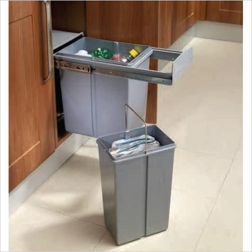 Solutions Kitchen Products - Waste Recycling Bin To Fit 300mm Unit