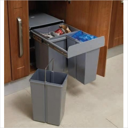 Solutions Kitchen Products - Waste Recycling Bin To Fit 400mm Unit