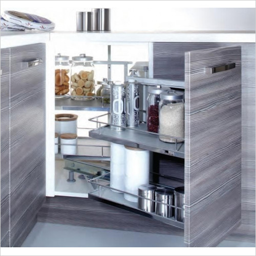 Solutions Kitchen Products - Corner Organiser Plus 900/1000mm LH