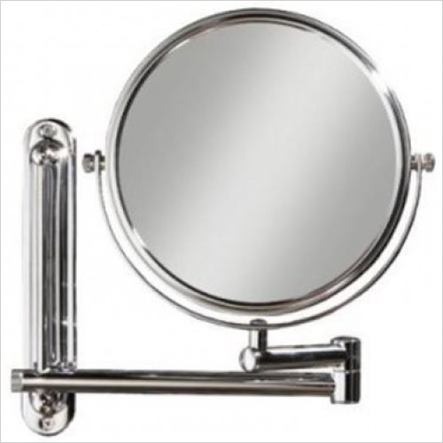 HiB Accessories - Tila Circular Double Arm Magnifying Mirror Ø20cm