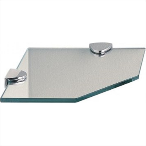 Miller From Sweden Accessories - Classic Corner Shelf With Chrome Brackets