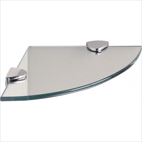 Miller From Sweden Accessories - Classic Round Corner Shelf With Chrome Brackets