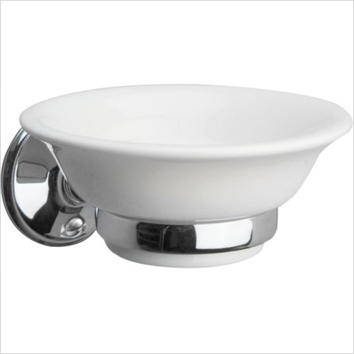Miller From Sweden Accessories - Stockholm Ceramic Soap Dish & Holder