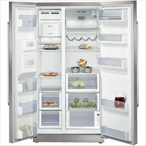 Neff - 181 x 90 x 68cm USA Style Side By Side Fridge Freezer
