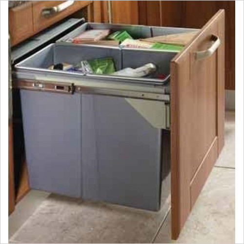 Solutions Kitchen Products - Waste Bin To Fit 500mm Unit