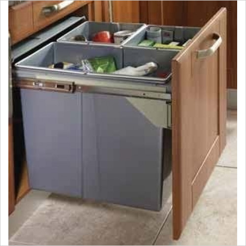Solutions Kitchen Products - Waste Bin To Fit 600mm Unit