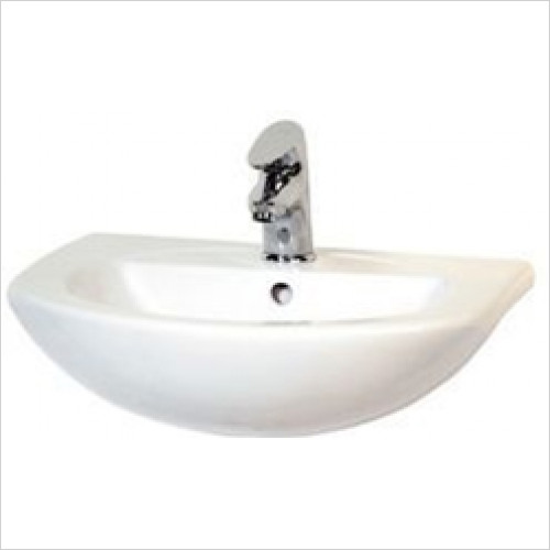 Estuary Bathrooms - Loire Semi-Recessed Basin 1 Tap Hole