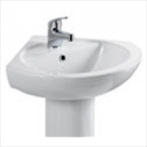 Estuary Bathrooms - Loire Corner Basin 400mm 1 Tap Hole