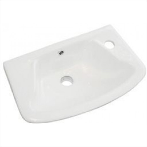 Estuary Bathrooms - Loire Cloakroom Basin 450 x 275mm 1 Tap Hole RH