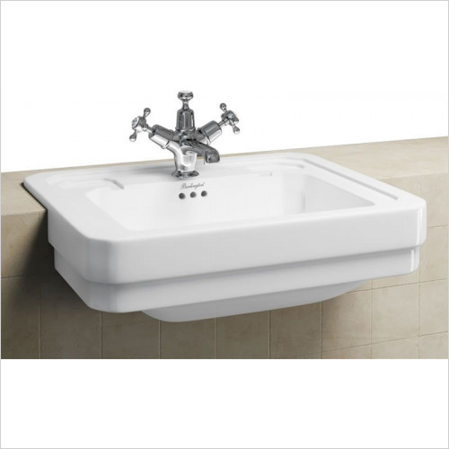 Burlington Bathrooms - Semi Recessed Basin 58cm 2TH