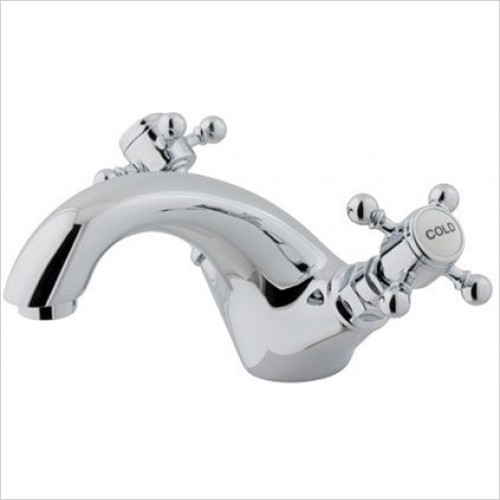 Estuary Bathrooms - Portobello Mono Basin Mixer, Clicker Waste