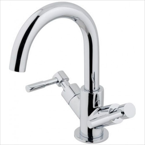 Estuary Bathrooms - Leith Mono Basin Mixer, Clicker Waste