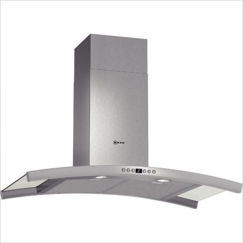 Neff - 90cm Curved Design Chimney Hood With Glass