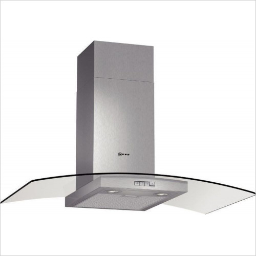 90cm Curved Design Chimney Hood With Glass
